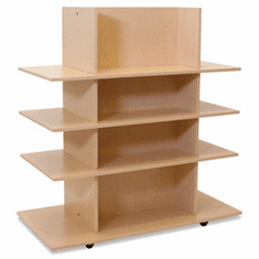 Knock Down Merchandiser Maple W/ 3 Maple Shelves