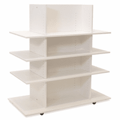 Knock Down Merchandiser White W/ 3 White Shelves