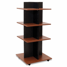 Knock Down Shelf Tower Merchandiser Black/Cherry