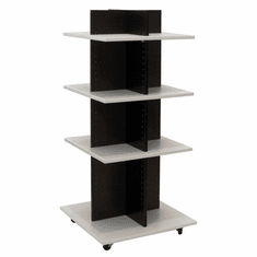 Knock Down Shelf Tower Merchandiser Black/White
