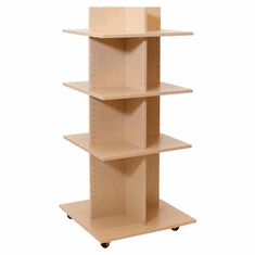 Knock Down Shelf Tower Merchandiser Maple