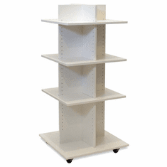 Knock Down Shelf Tower Merchandiser White