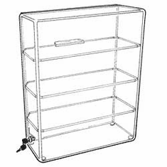 Large Acrylic Straight Front Sliding Back Locking Cases