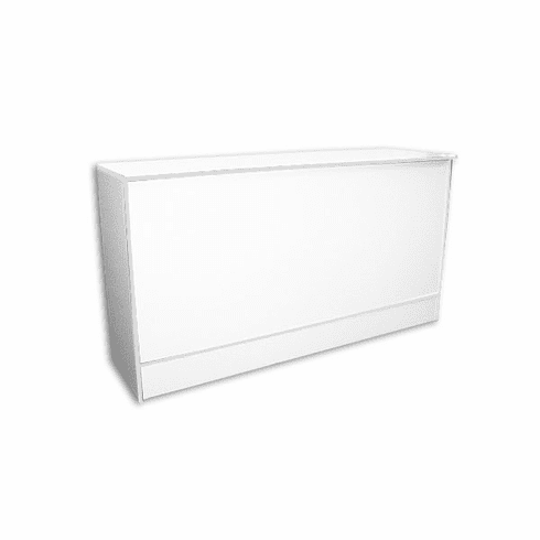 Low Cost FlatTop Cash Wrap Counter 70in. White