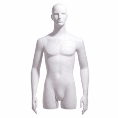 Male 3/4 Body Form, Abstract Head, Arms at Side