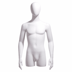 Male 3/4 Body Form, Oval Head, Arms at Side