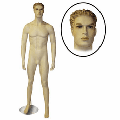 Male Mannequin w/Arms By Side and Legs Apart