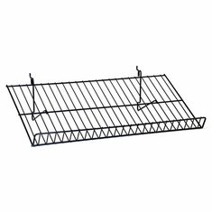 "Multi Use Sloping Shelf 12""D x 23-1/2""W with 2"" Lip Black"