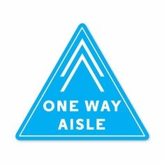 "One Way Aisle Floor Decal 12""x 13.7"" Pack/5"