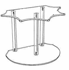 Ornament Riser With Flat Back
