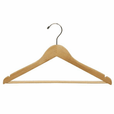 Oversized Suit Hanger with Non-Slip Pant Bar (Box of 100)
