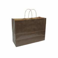 Paper Shopping Bag Chocolate Case of 250