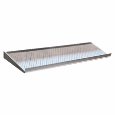 Perforated Metal Shelf Silver