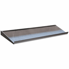 Perforated Metal Shoe Shelves