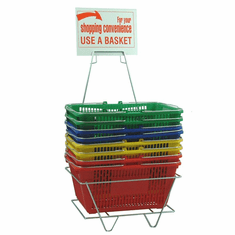 Plastic Shopping Basket Set
