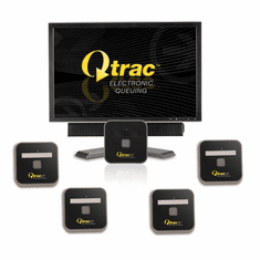 Qtrac CF Electronic Queuing System 5 Station Kit