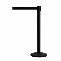 QueueWay Stanchion Post Black w/Black Belt