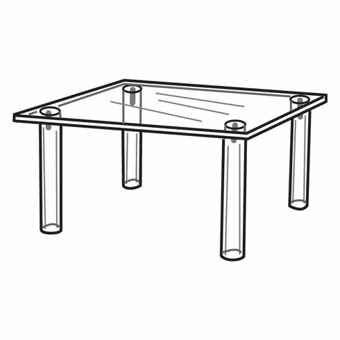 Acrylic 10in.Square Table Display