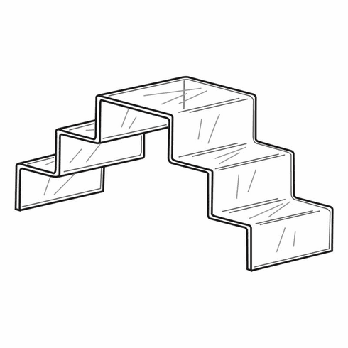 Quick Ship Acrylic 3 Step Double Stairway