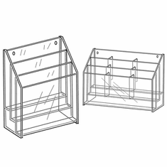 Quick Ship Acrylic 3 Tier 4in.x 9in. Brochure Holders