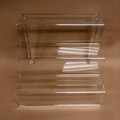 Quick Ship Acrylic 3in. Deep shelf Stairway