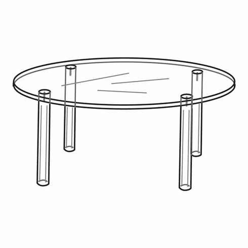 Acrylic 4in. Round Table Display