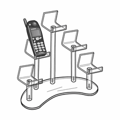 Acrylic 5 Cell Phone Easel Display