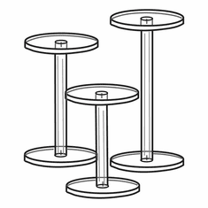 Acrylic Dumbbell Pedestals Set of 3