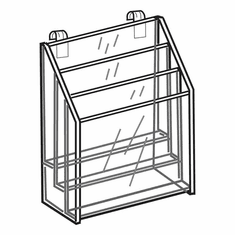 Acrylic Gridwall 3 Tiered Brochure Holder