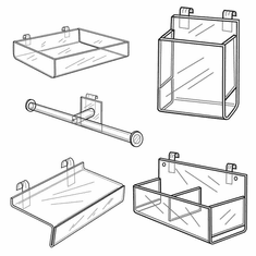 Quick Ship Acrylic Gridwall Accessories