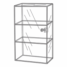 Acrylic Locking 3 Shelf Showcase