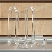 Quick Ship Acrylic Ribbon Bowl Easels 6in.H