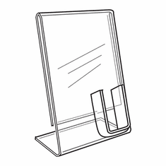 Acrylic Signholder With Cell Phone Pocket