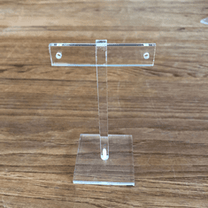 Acrylic T-Bar Earring Stand 4-1/4""