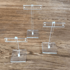 Acrylic T-Bar Earring Stands (Set of 3)