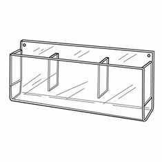 Quick Ship Acrylic Wallmount Multi-Pocket Brochure Holders