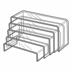 Acrylic Wide Risers Set of 5