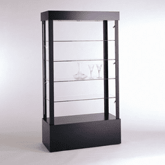 Quick Ship Black Rectangular Open Display Case