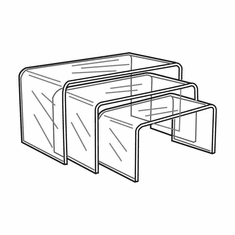 Clear Acrylic Long Risers Set of 3