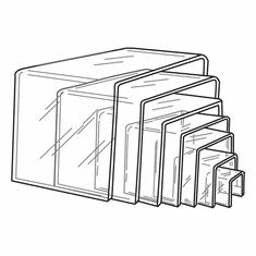 Clear Acrylic Square Risers Set of 7