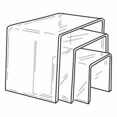 Giant Acrylic Square Risers Set of 3