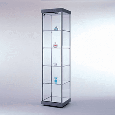 Quick Ship Full View Square Tower Display Case