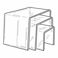 Thick Acrylic Square Risers Set of 3
