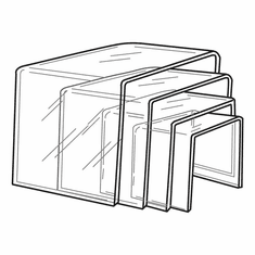 Thick Acrylic Square Risers Set of 4