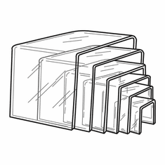 Thick Acrylic Square Risers Set of 6