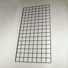 Raw Steel Wire Gridwall Panel 2ft x 6ft