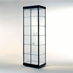 Rectangular Glass Tower Display Case