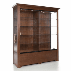 Rectangular Wall Display Case with Divider