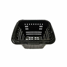 Rolling Shopping Basket with Pull Handle Black