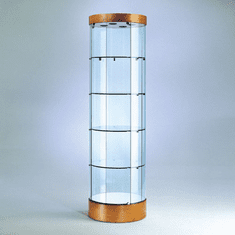Round Tower Display Case